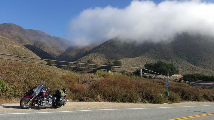 fog coming in, hwy #1, california