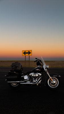 night over the prairie, hwy 2, washington