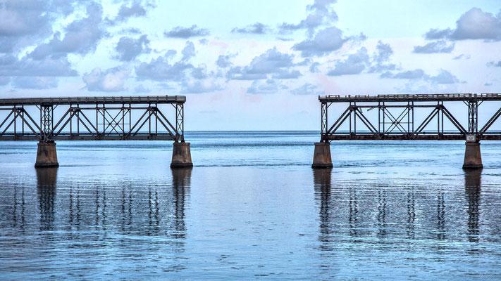 """ a missing link""  - old railroad bridge, the keys, florida"