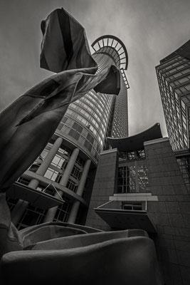Westend Tower & Claes Oldenburg Sculpture, Frankfurt, Germany