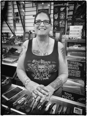 angelina maria ( aka debbie ) t-shirt maker, deadwood, south dakota