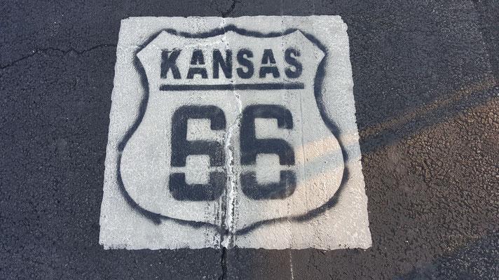 route 66, detail, kansas