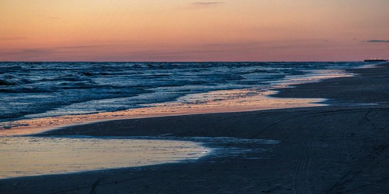 Evening on the baltic shore, Palanga, Lithuania