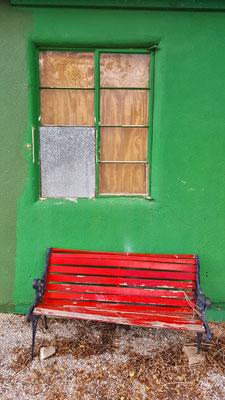 red bench, seligman, arizona
