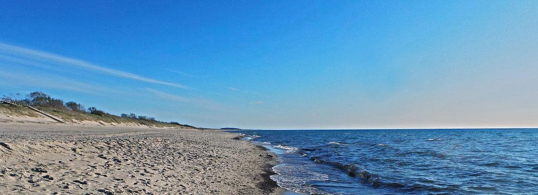 Nerija and Baltic Sea, Nida ( Nidden ), Lithuania