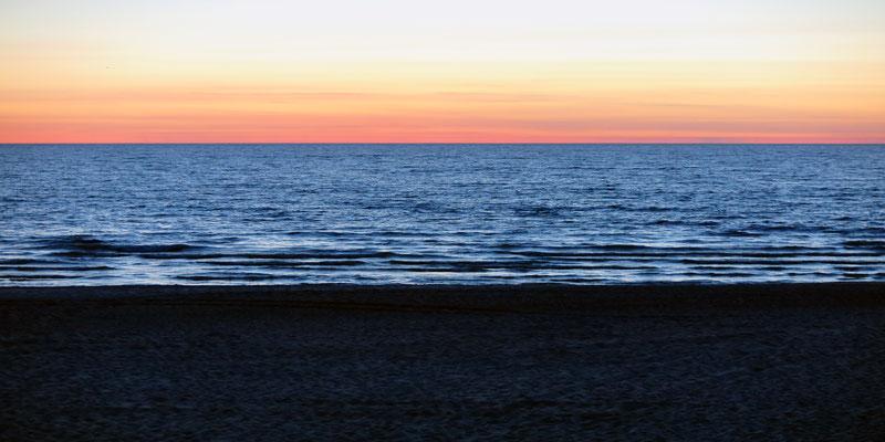Beach after sunset, Palanga, Lithuania