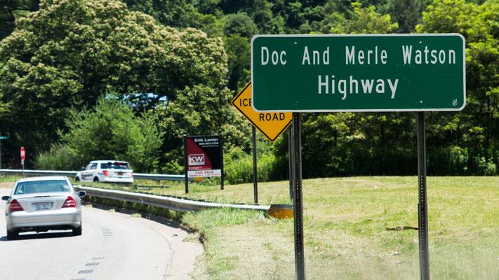 doc and merle watson highway, deep gap, north carolina