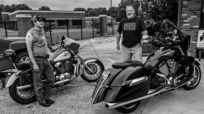 bruce and joe, bike riders, martin, tennessee