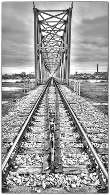 Railroad Bridge from Lithuania to Kaliningrad, close to Советск (Tilsit)