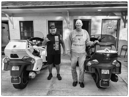 stan and randy, bikers from portland, oregon, cody, wyoming