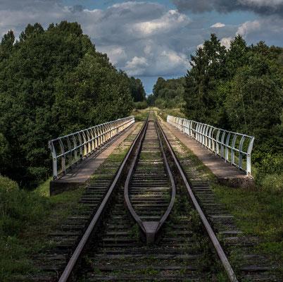 Old German Railroad Bridge, Токаревка (Makunischken),  Kaliningrad Oblast, Russia