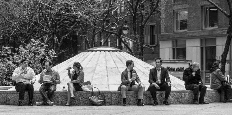 """""""outside lunches"""", manhattan, new york, usa"""