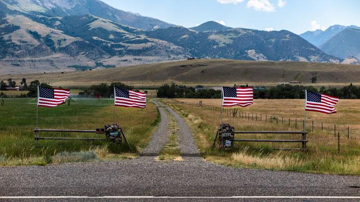 """the fab four II"",  towards livingston, montana"