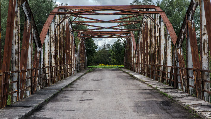 Old German Steel Bridge (no longer in use), Талпаки (Taplacken), Kaliningrad Oblast, Russia
