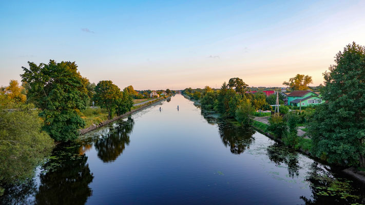 Pollesk (Labiau) Canal, towards Pollesk (Labiau),  Kaliningrad Oblast, Russia