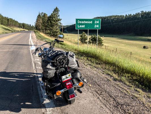 going to deadwood, black hills, south dakota