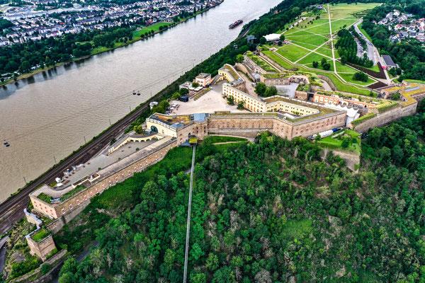 Festung Ehrenbreitstein, Koblenz, Rhine River Valley, Germany