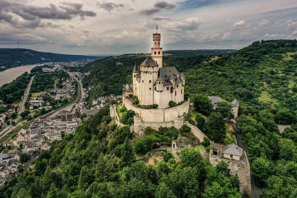 Marksburg, Braubach, Rhine River Valley, Germany