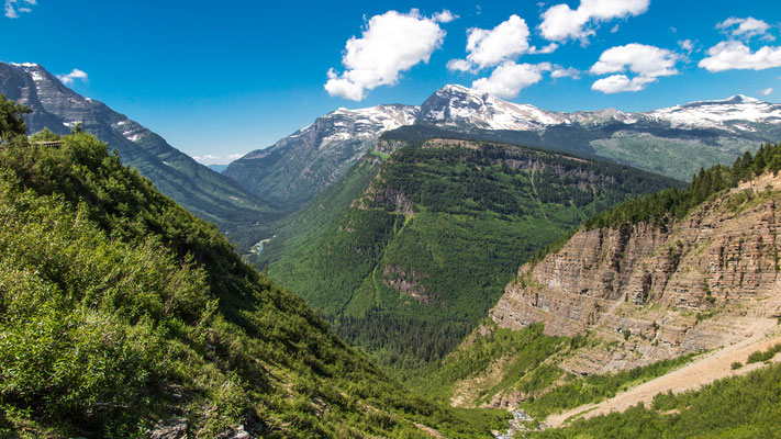 shot from higway to the sun, glacier national park, montana