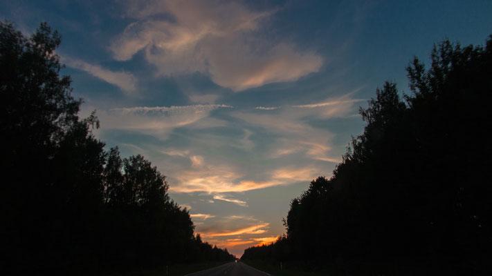 Sunset in Mazoi Lietuva, Lithuania