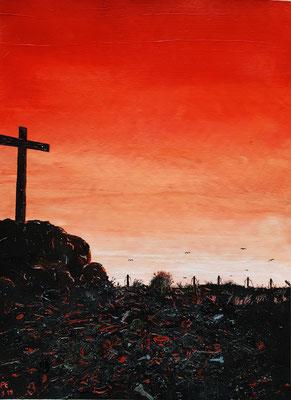 Das leere Kreuz auf der Hinrichtungsstätte