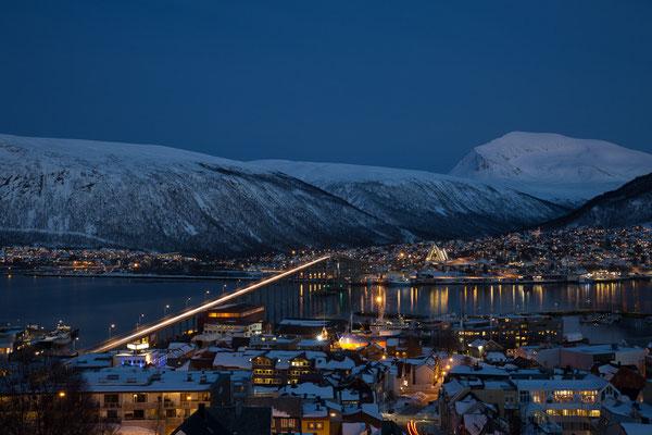 Sicht auf Tromsø