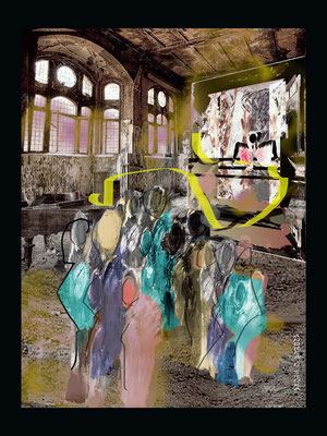 Junge Talente-Multi Media-Druck Alu DiBond 60x80 glänzend