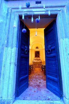 Borgo Boncompagni Ludovisi - ingresso chiesa
