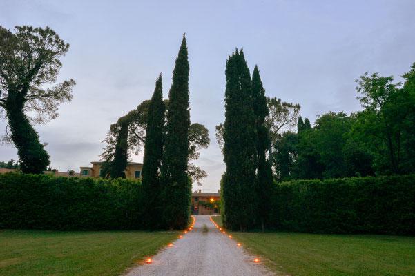 Borgo Boncompagni Ludovisi - viale ingresso