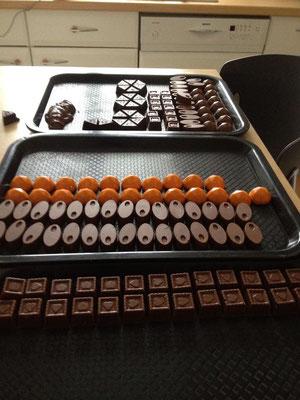 préparation chocolats