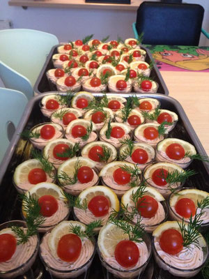 verrine lentilles et saumon