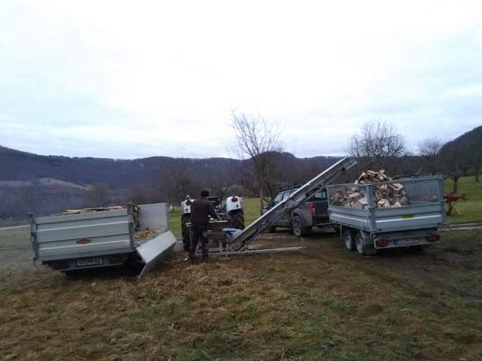 Brennholztransport