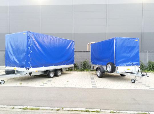 Planenanhänger 2500kg und 1300 kg zul. Gesamtgewicht