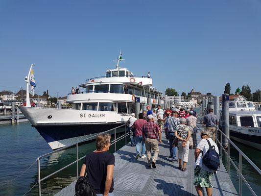 Ab auf Schiff von Romanshorn auf die Mainau