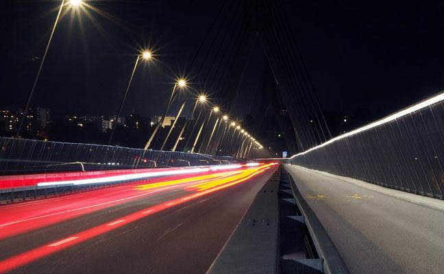 Balmer Pascal - Poya bridge by night