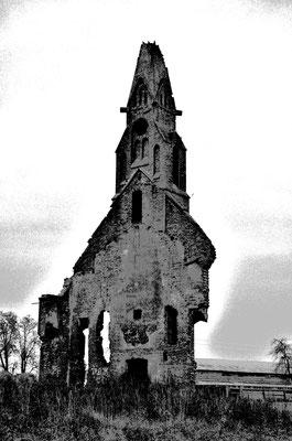 Kirchenruine im Kaliningrader Gebiet (Russland)