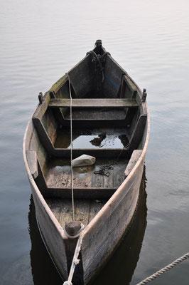 Alter Kahn im Hafen von Nida (dt.: Nidden) auf der Kurischen Nehrung (Lettland)