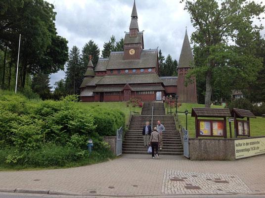 Die Stabkirche in Hahnenklee