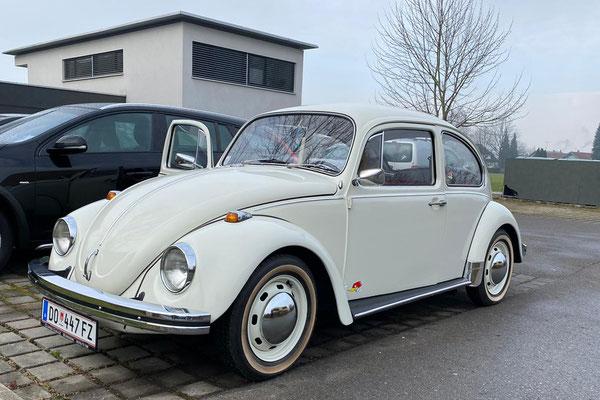 der VW Käfer von unserem Neumitglied Robby - restauriert von der Glopper Garage