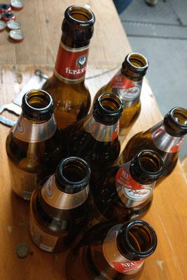 die ersten Bier waren schnell getrunken