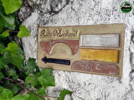 Señal ruta Medieval