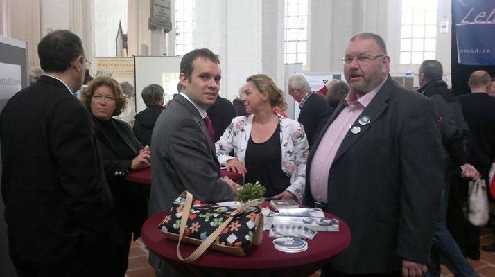 Besuch der BfL bei der Ehrenamtsmesse 2012 in der St. Petri Kirche mit Marcel Niewöhner