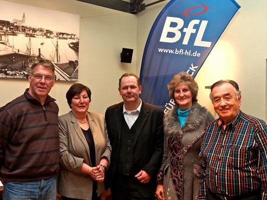 Vorstand der BfL: Dieter Rosenbohm, Antje Krause, Lothar Möller, Astrid Stadthaus-Panissié und Günter Scholz