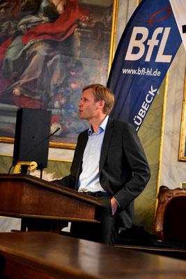 Gastredner Dr. Frank Schröder-Oeynhausen beim Jahresempfang der BfL am 12. 04.2018