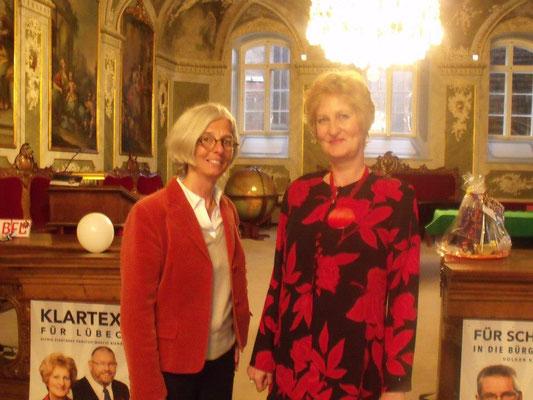 Alexandra Dinges-Dierig  und Astrid Stadthaus-Panissié beim Jahresempfang 2013
