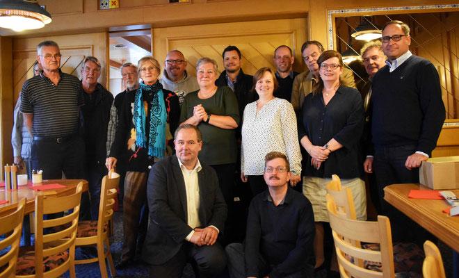 Gruppenbild nach der Mitgliederversammlung am 07.10.2017