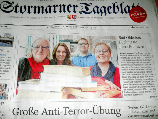 Titelseite am 12. April 2017 im Stormarner Tageblatt!