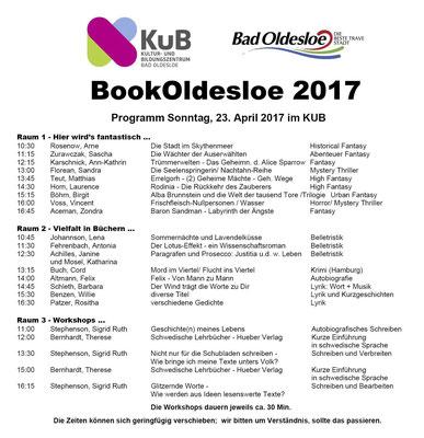"""Viele Genres stellen sich beim """"Tag voller Bücher"""", am Sonntag auf der BookOldesloe vor."""