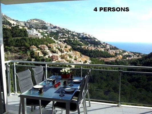 Altea-Hills Apartment 4 persons.