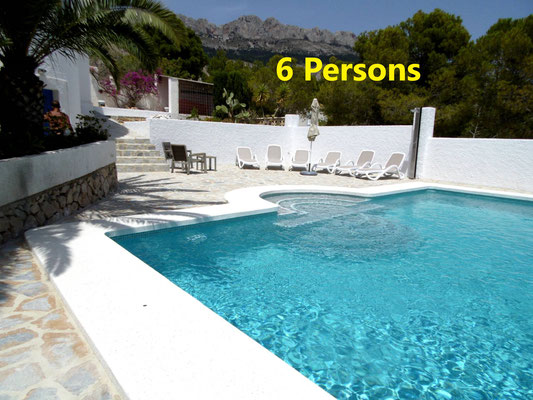 6 person villa nice view